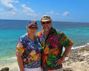 Sue-and-Joe-at-Ol_-Blue-Dive-Site-in-Bonaire